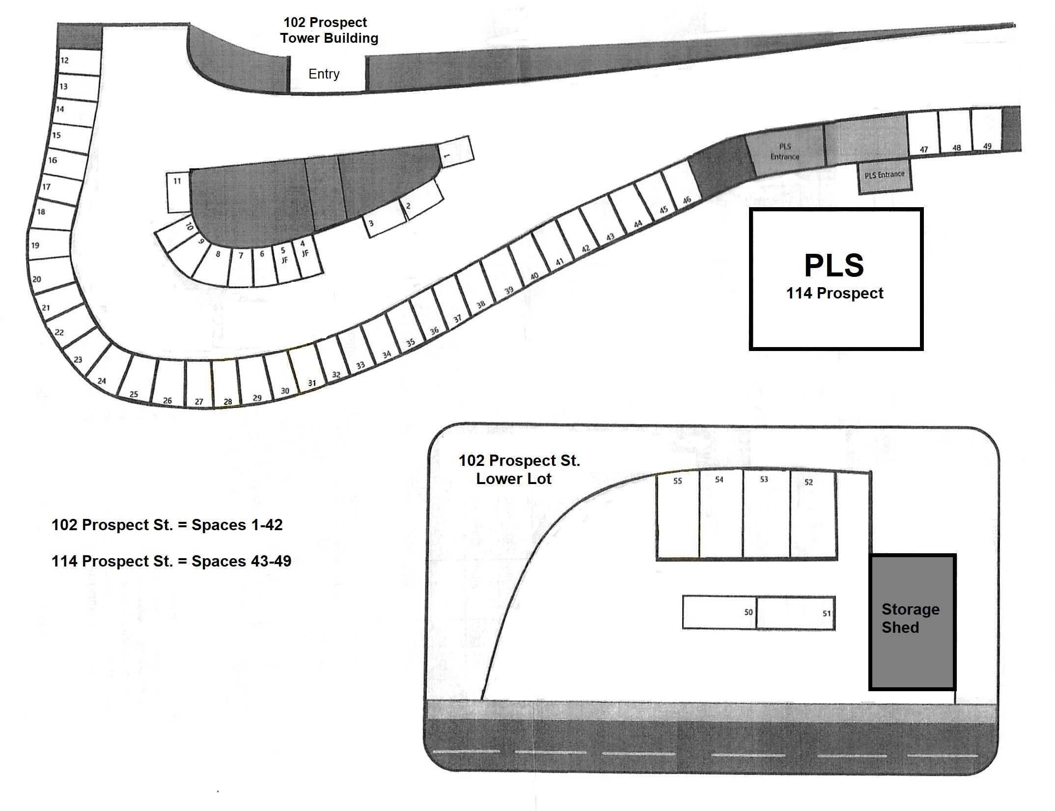 Tower and Carriage House Parking Map